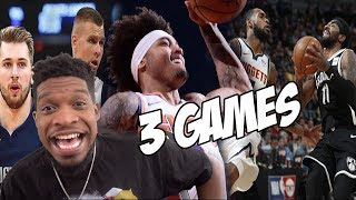 1 VIDEO 3 GAMES! Nets vs Nuggets + Mavs vs Knicks, Hawks vs Suns HIGHLIGHTS
