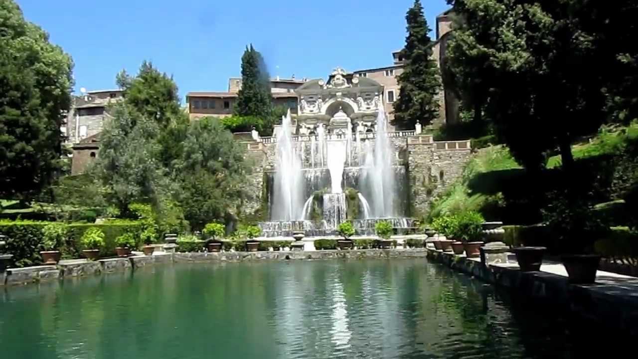 Tivoli jardin de la villa d 39 este youtube for Camping le jardin de tivoli