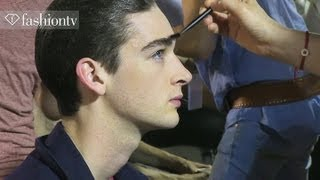 Sexy Male Models Backstage at Paris Men