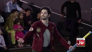 Contestant Almost Falls on Danish Taimoor | Game Show Aisay Chalay Ga | BOL Entertainment