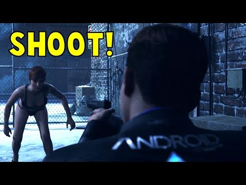 Connor Shoot vs Don't Shoot The Stripper - Detroit Become Human HD PS4 Pro