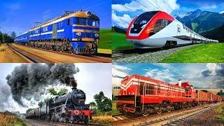 Учим цвета и поезда для самых маленьких. Обучающее видео о железнодорожном транспорте