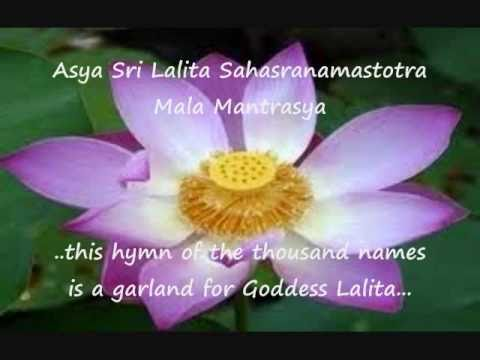 Hymn With English Subtitles Part 1 Of 4 - Sree Lalitha Sahasranamam Stotram -- The Secret Of Shakti. video
