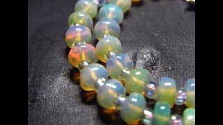 GK09 - 8.90 cts Gelang Opal Kalimaya Natural Ethiopian Welo Bracelet Opal beads Jarong
