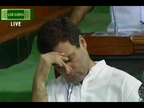 Rahul Gandhi caught napping in Lok Sabha