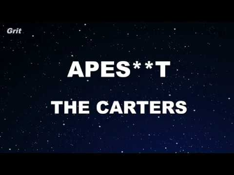 APES**T - THE CARTERS Karaoke 【No Guide Melody】 Instrumental