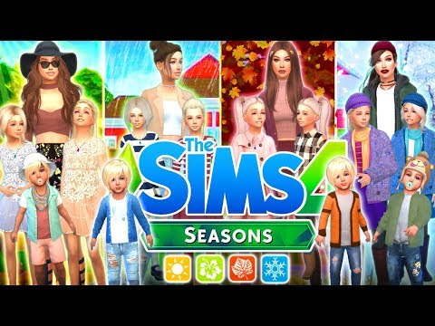 🌸☀️🍂❄️THE SIMS 4 SEASONS!🌸☀️🍂❄️ Reactions plus CHALLENGE!