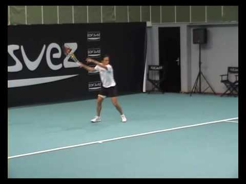 Francesca Schiavone practice in Paris indoors 2009 1 Video