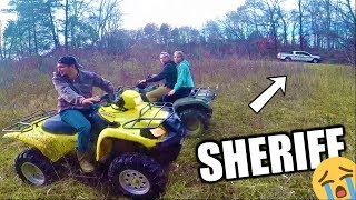 EVADING THE POLICE ON FOURWHEELERS!