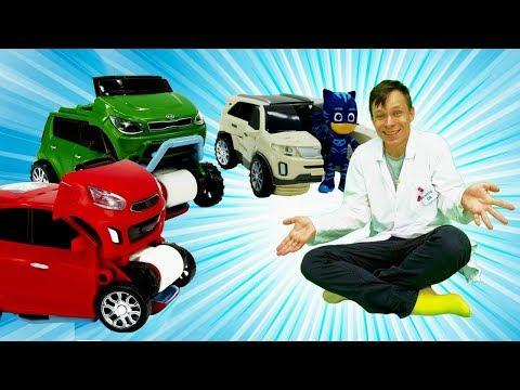 Кэтбой и Доктор Ой собирают ТОБОТа Дельтатрон! Мультики про Машинки #Трансформеры Видео для Детей