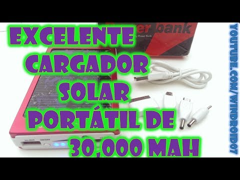 Review Cargador Solar Dual Portatil /Power Bank 30.000 mAh [Universal.Android.IOS.Nokia /Español MX]