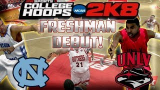 College Hoops 2K8 - MyCareer - Freshman Season Debut! - First Game Vs North Carolina! -