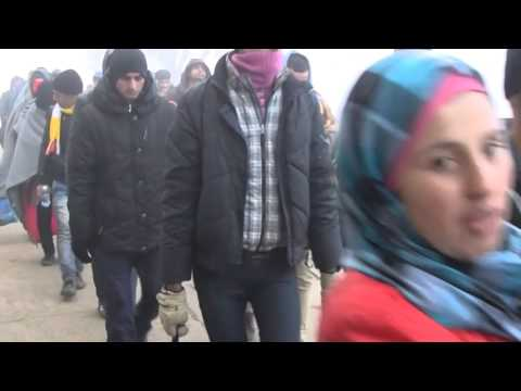 Asylum Seekers Stream Across Serbia-Croatia Border