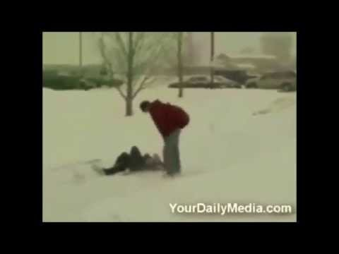 Top 7 Clips Of People * FALLING * On Ice | America's Funniest Viral Videos