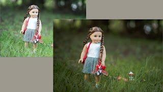 Saving an Image- American Girl Doll Photography