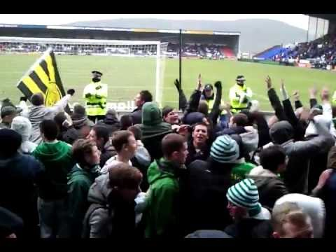 inverness v celtic,the celtic fans are having a party.