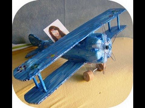 Avion de 4 sous activit manuelle youtube - Recyclage activite manuelle ...