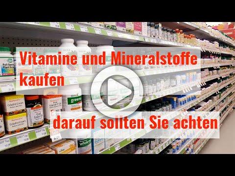 Vitamine und Mineralstoffe kaufen - darauf sollten Sie achten