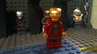 Mark 42 armor suit up scene lego stopmotion