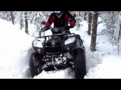 Snowy rock vs. Kymco MXU 500 irs with 28