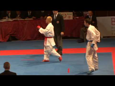 2009 WKF Jr Worlds -21 Men -68 Kg Aka USA vs Ao Montenegro