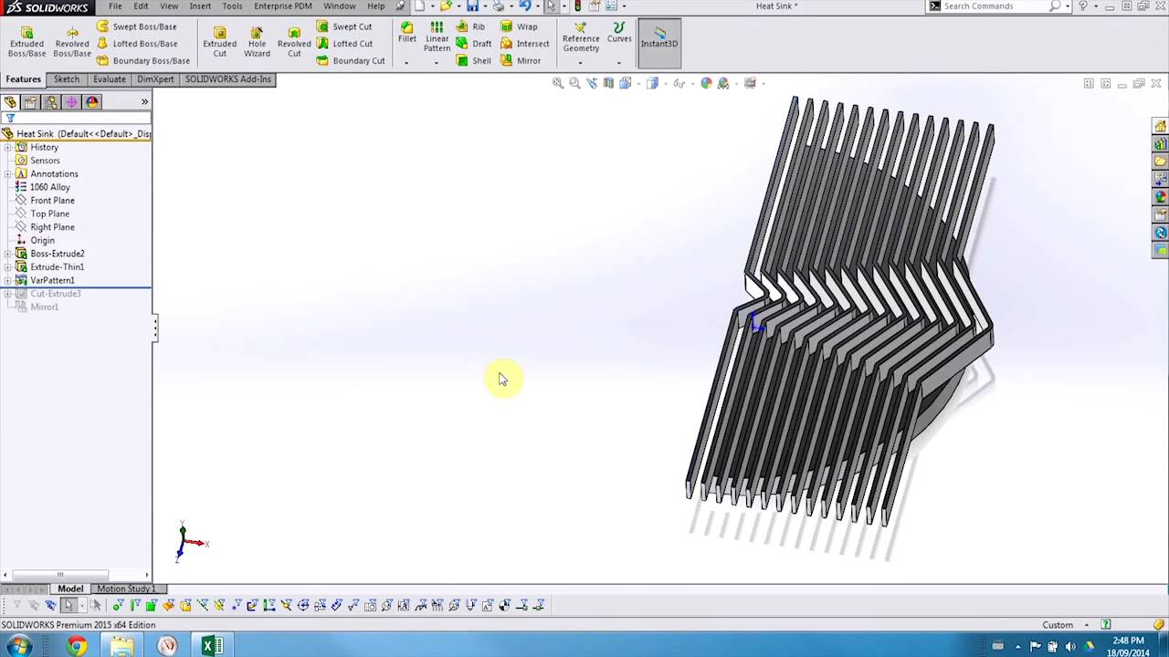 Comsolidworks Design Table : SOLIDWORKS Whats New 2015 - Variable Pattern - YouTube