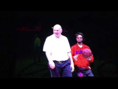 Steve Ballmer dunks!