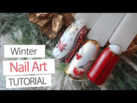 3 Winter Nail Art Designs Tutorial   Winter 2017 - Lesson Part 10 - YouTube