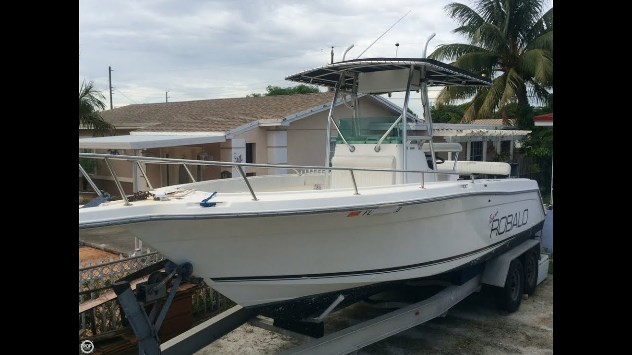 UNAVAILABLE] Used 1999 Robalo 26 in Hialeah, Florida - YouTube