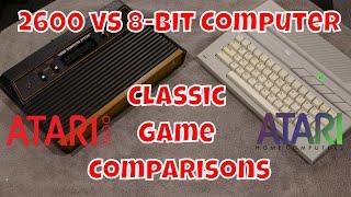 Classic Game Comparison: 2600 vs. the Atari 8 bit Computer
