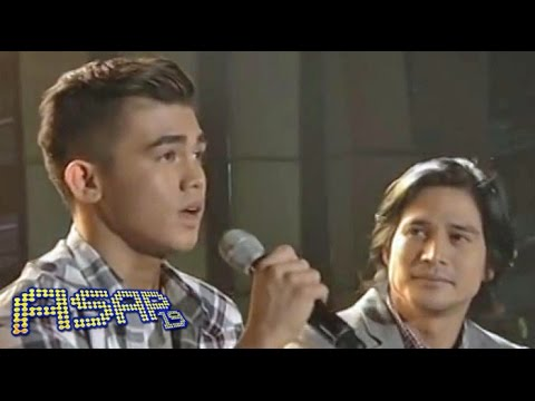 Iñigo Pascual celebrates birthday with Dad Piolo on ASAP