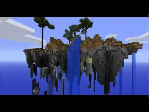 Floating islands in minecraft! (Download and tutorial link)