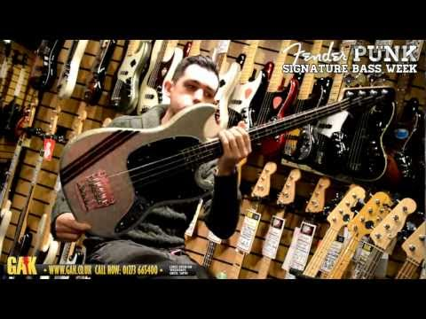 Squier - Mikey Way (My Chemical Romance) Mustang Bass Demo at GAK!