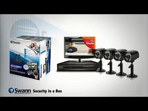 Swann sistema de seguridad 4 cámaras y 1 DVR