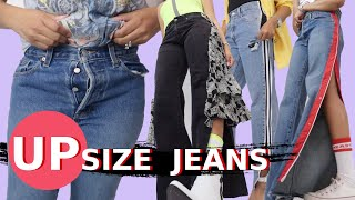 4 Really Cool Ways to Make Jeans Bigger | Upsize Jeans