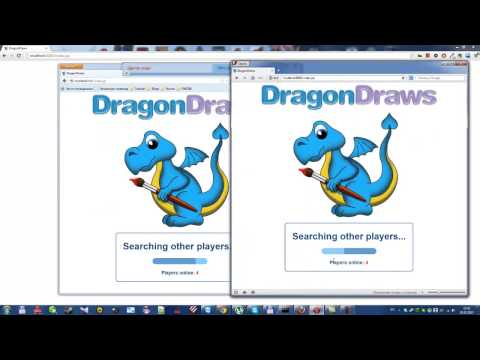 DragonDraws - HTML5 websocket drawing game (Java, Jetty8, Jquery)