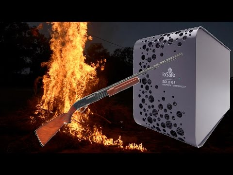IoSafe HDD Torture Testing - Water & Fire & Guns - Part 1