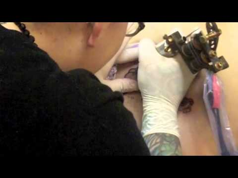 Emily rose inks cappucino cass 39 s first tattoo youtube for Little johns tattoo greensboro nc