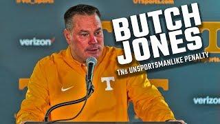 Watch Butch Jones address Tennessee's unsportsmanlike penalty