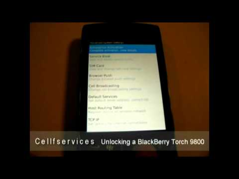 How to Unlock a BlackBerry Torch 9800 (AT&T Rogers Bell Telus Vodafone Orange Digicel Movistar)