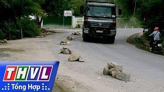 THVL | Người dân chất đá trên đường ngăn xe ben gây cản trở giao thông tại Khánh Hòa