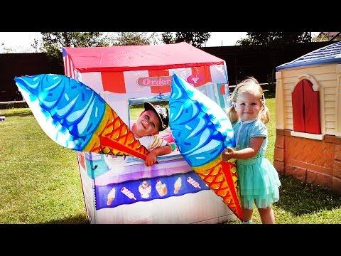 ✿ ИГРАЕМ В МАГАЗИН МОРОЖЕНОГО Огромное Мороженое Для Детей Ice Cream Unboxing VIDEO for children