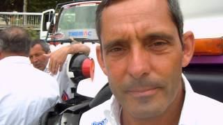 Dakar 2013. Alex Caffi intervistato a fine gara.