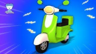 Xe tay ga hình thành và sử dụng | nhac thieu nhi hay nhất | Scooter | Kids Channel Vietnam