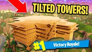 WE CLOSED IN TILTED TOWERS AND PLAYED HIDE AND SEEK!   Fortnite Battle Royale Custom Games