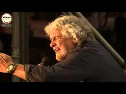 Beppe Grillo Circo Massimo Comizio M5S Roma Ottobre 2014