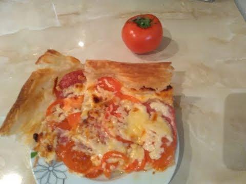 Pizza\Пицца на слоеном тесте. Вкусно и быстро