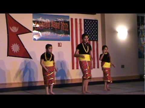 Karkalo Gava #nepali Kids Dance In Usa: Nepali New Year 2012 #wyoming video