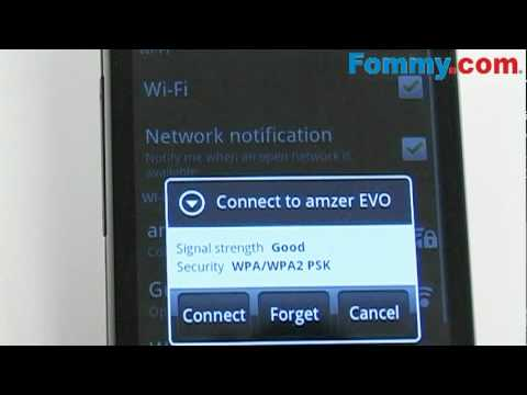 HTC Evo 4G Tutorial of WiFi Hot Spot Connection