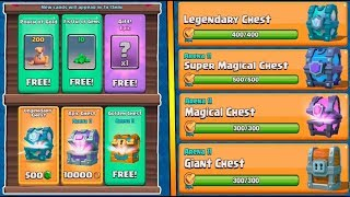 ALL CHESTS AND GEMS (All daily deals) :: Clash Royale :: SUPER MAGICAL CHEST AND LEGENDARY OPENING!